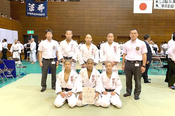 【柔道部】県大会団体で5位に入賞しました